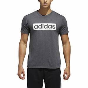 Adidas-Men-039-s-Linear-Box-Core-Shirt-Dark-Grey-DV3431