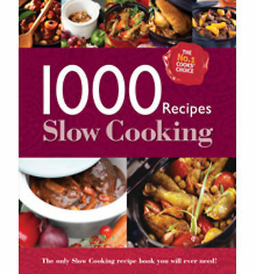 1000 Recipes - Slow Cooking - Large Format Hardback Book. Photo's and step by st