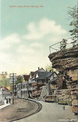 Vintage Postcard Lovers Leap Eureka Springs AR Carroll ...