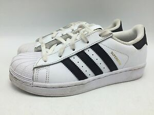 Adidas La Marque 3 Bandes Casual Leather Sneakers White Fashion Kids Shoes 13.5