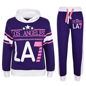 A2Z 4 Kids/® Kids Girls Tracksuit Los Angeles LA7 Print Hoodie /& Bottom Jog Suit Age 7 8 9 10 11 12 13 Years