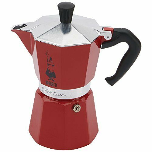 FREE SHIPPING  BRAND NEW  Bialetti Express Espresso Maker 3 Cups Moka Cafe - RED