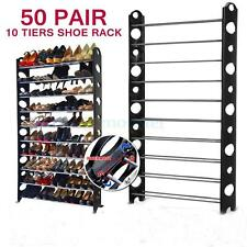 High Quality 50 Pair 10 Tier Space Saving Storage Organizer Shoes Tower Rack