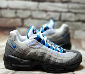 Details about Nike Air Max 95 OG Crystal Blue White Grey Black AT8696 100 Men's 6 WMNS 8 NEW
