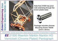 EE 21500 New Marklin HO Double Arm Pantograph Stromabnehmer with Mount Screw