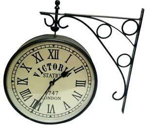 VINTAGE-STYLE-VICTORIA-STATION-6-034-BLACK-DOUBLE-FACE-HOME-DECOR-WALL-CLOCK-WC-03