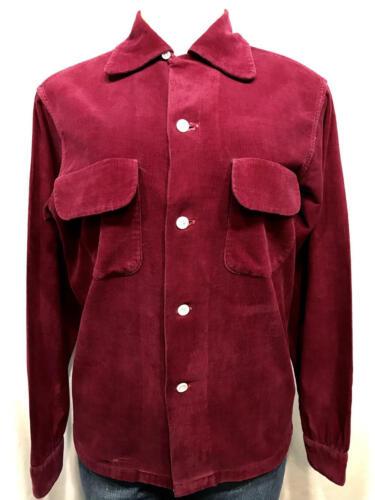 Vintage 40s ENSENADA Corduroy Long Sleeve Shirt Bu