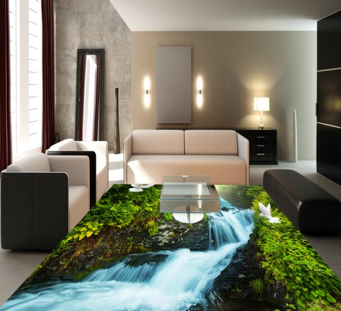 3D Shrub River Pigeon 85 Floor WallPaper Murals Wall Print Decal AJ WALLPAPER US
