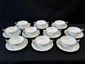 Minton-Grenadier-H5179-Set-of-10-Cream-Soup-Bowls-amp-Saucers
