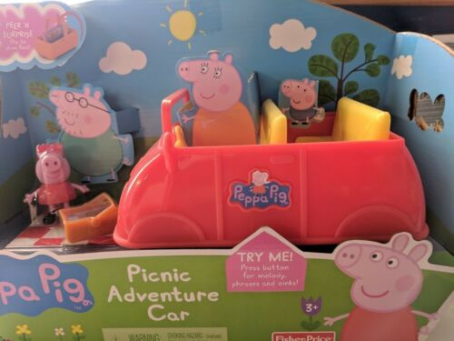 Fisher-Price Peppa Pig Picnic Adventure Car NEW gm1538