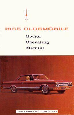 1965 Oldsmobile 442 F-85 Vista Cruiser Owners Manual User Guide Operator Book