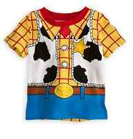 Disney Store Sheriff Woody Baby Costume T Shirt Size 0-3 Months Toy Story Gift
