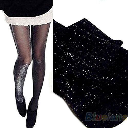 Hot Fashion Womens Shiny Hosiery Socks Glitter Stockings Glossy BA4U