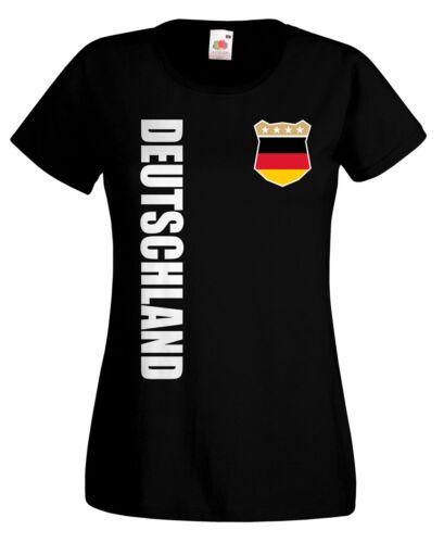Deutschland WM 2018 Damen T-Shirt Trikot Name Nummer Fussball Team National