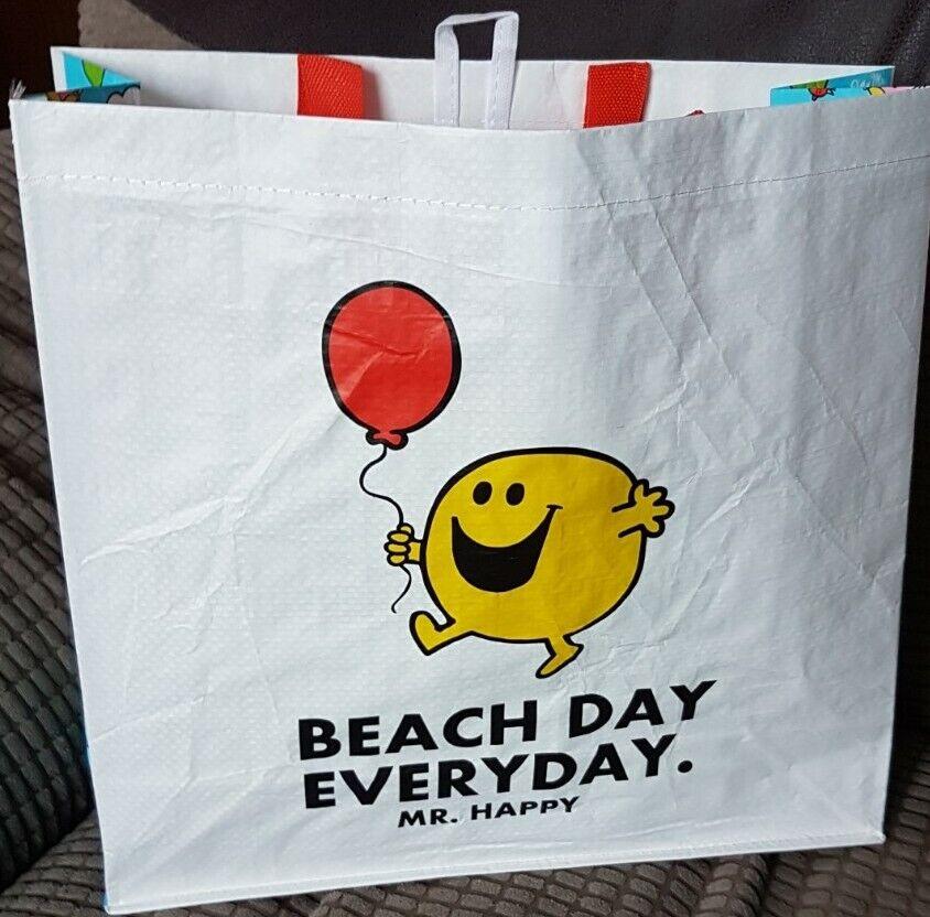 Tesco Mr Men Mr Happy Woven Bag