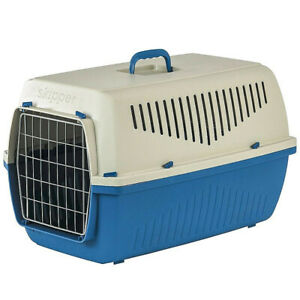 Dog Travel Pet Kennel Crate Cat Cage Carrier Large Portable Plastic Airline Door