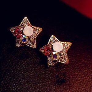 Fashion-For-Vintage-Women-Rhinestone-Diamonds-Stud-Earrings-Pentagram-Jewelry