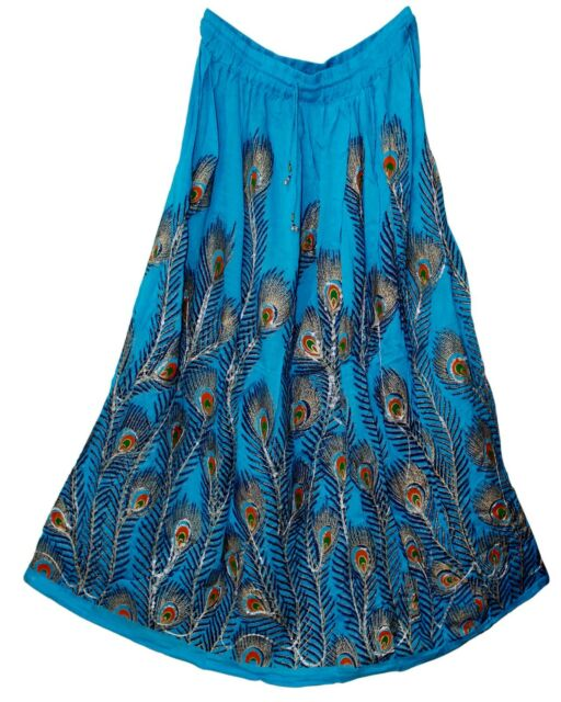 XXL RAYON skirt retro Indian gypsy jupe falda hippY WOMEN EHS ethnic boho Rock