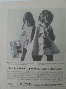 1960-Arnel-Celanese-Tela-Lida-Marron-Chicas-Vestido-Marys-Poco-Lamb-Ringside-Ad