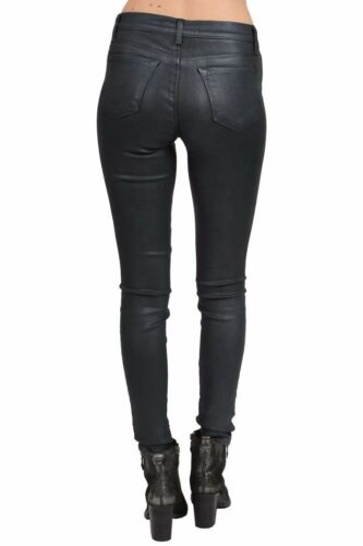$228 J Brand for Theory Coated Varnished Steel Pants Jeans Skinny Leg NEW J333