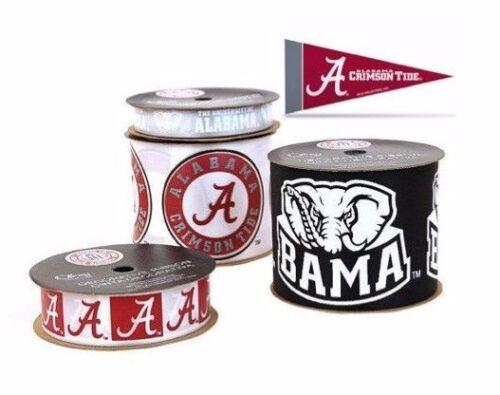 Alabama Crimson Tide Licensed NCAA Ribbons /& Mini Pennants