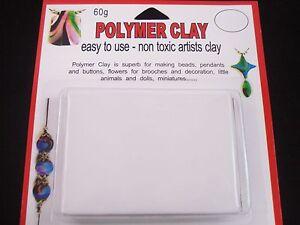 Modelling-Polymer-Clay-Art-Craft-Oven-Bake-60g-White-Art-Design-FREE-POSTAGE