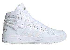 Scarpe-uomo-Adidas-EG4341-sneakers-alte-sportive-da-ginnastica-in-pelle-bianche