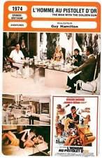 CARTE FICHE CINEMA 1974 L'HOMME AU PISTOLET D'OR JAMES BOND Roger Moore