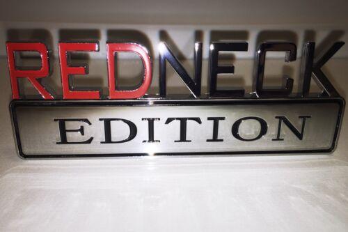 REDNECK EDITION car truck ACURA /& HONDA EMBLEM logo decal SUV SIGN RED NECK 1.1.