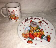 "Sakura ""Santa's Magical Cookies"" Plate & Mug  by Cheryl Ann Johnson Christmas"
