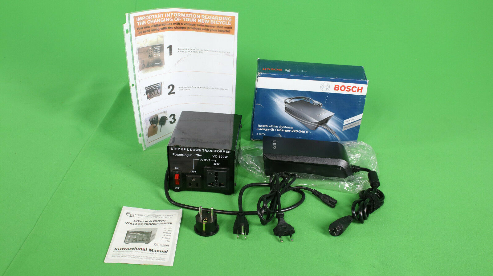 WORLDWIDE Bosch e-Bike Battery Charger 4 amp  - Fast Charge   new listing