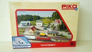 PIKO-Spur-H0-61924-Gueterumschlags-Set-5-teilig-Bausatz-NEU-amp-OVP