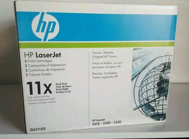 NEW GENUINE HP Cartridge 11X Q6511X D Dual Pack,HP LJ 2410 2420 2430