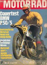 Motorrad 7 72 BMW R 50/5 König Yamaha TD3 TR3 1972 Deutschland Zweitakt Japan