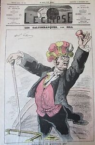 The-Acrobats-Caricature-Gill-Journal-Satirical-L-039-Eclipse-No-No-268-of-1873