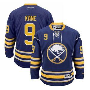 Evander-Kane-Reebok-Buffalo-Sabres-Official-Home-Navy-Blue-Premier-Jersey-Men-039-s