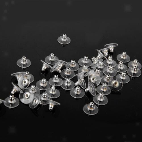 50pz Tappi Fai da te Orecchino Orecchini Earring Stopper Gioielli Bricolage