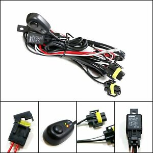 winjet universal wiring harness include switch kit car auto fog ... universal fog light wiring harness ebay  ebay