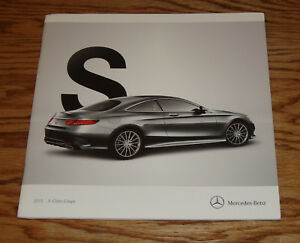 Original 2015 Mercedes Benz S Class Coupe Sales Brochure 550 63 AMG ...