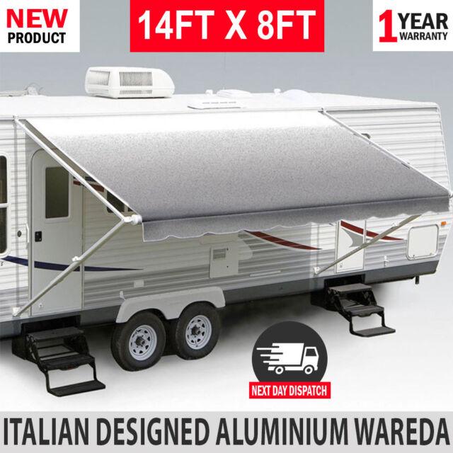 NEW 14FT Caravan Awning Roll Out 14FT X 8FT Italian Designed Aluminium Wareda