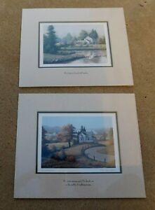 Bill-Saunders-Daydreams-Reflections-Two-ART-Prints-Landscape-Country-Signed-New