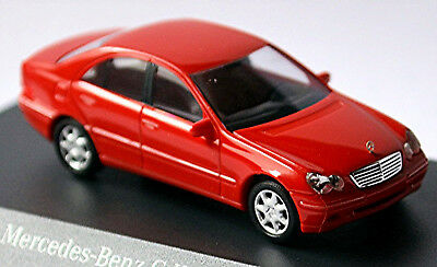 Toys, Hobbies Mercedes Benz C Class Elegance W203 Limousine 2000-07 Magma Red Red 1:87 Busch