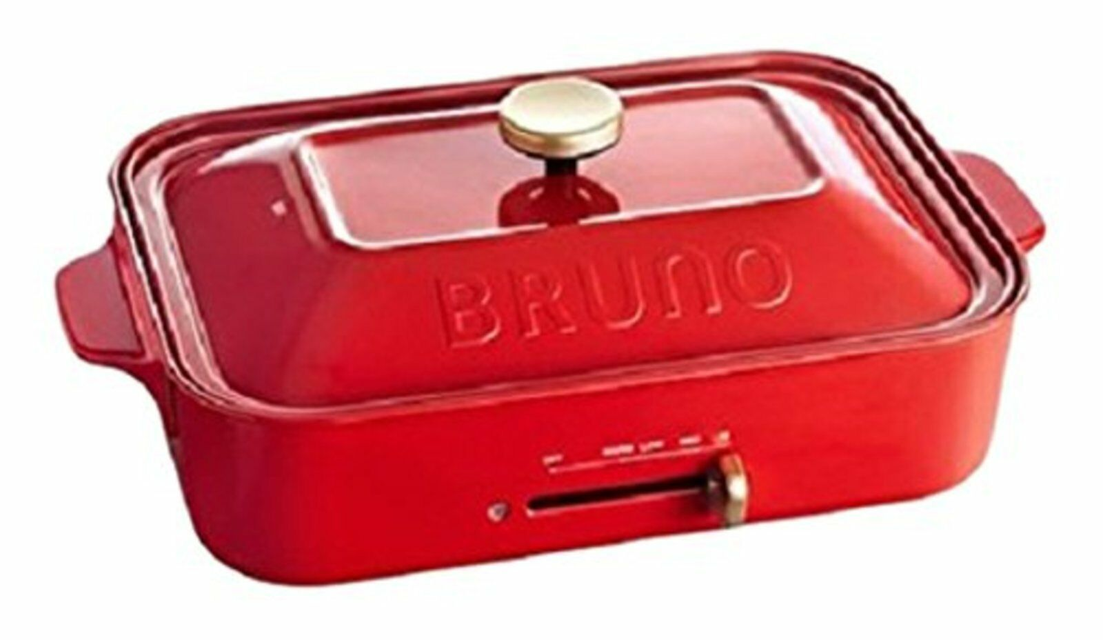 Bruno Compact Plaque Chauffante Rouge Boe021-rd avec Suivi   Neuf Japon