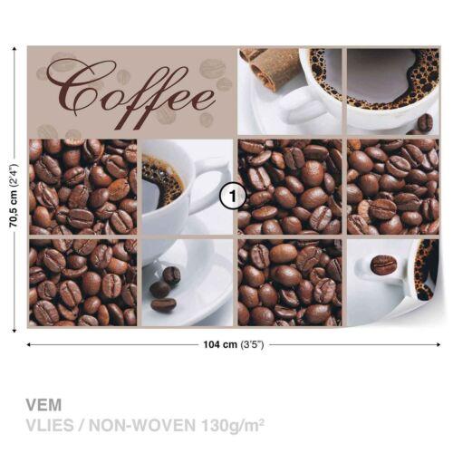 Tapete Fototapete für Küche Cafe Bohnenkaffee Tasse schwarzer Kaffee Espresso