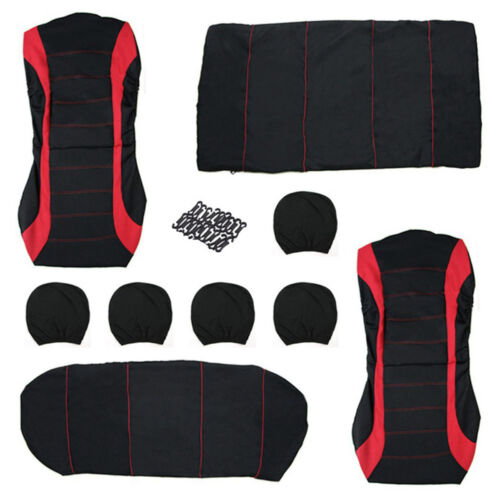 Red Car Seat Covers Protectors Universal Washable Dog Pet Front Rear Full Set