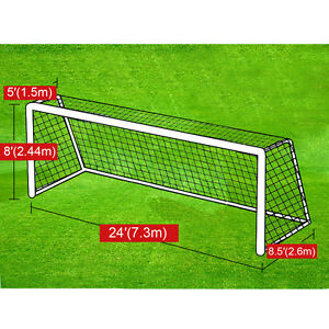 New Portable 24' x 8' Official Size Soccer goal Net ...