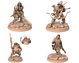 PACK 4 ZOMBIES SCALE 32mm MORDHEIM ZOMBICIDE DnD ROL WARHAMMER NEW!!!