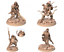 miniatura 1 - PACK 4 ZOMBIES SCALE 32mm MORDHEIM ZOMBICIDE DnD ROL WARHAMMER NEW!!!