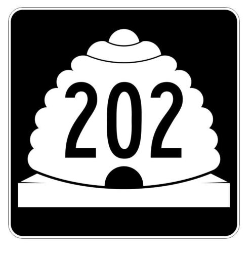 Utah State Highway 202 Sticker Decal R5508 Highway Route Sign