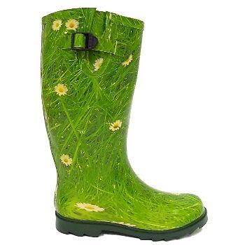 Verde Daisy Wellies Wellington Festival Botas Talla 3-8
